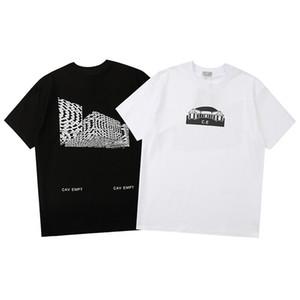 Тройник футболка маленький геометрический дом графический дизайн смысл 4D волшебный отпечаток футболка мужских женщин с короткими рукавами танцевальная футболка
