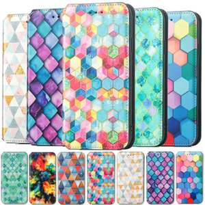 Color Block Phone Case For iPhone 13 12 11 Pro X XS XR Max 6 7 8 SE 2 6S Plus Mini Cover Wallet Card Slot Flip Magnetic Leather