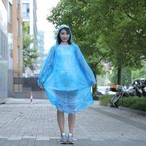 Disposable pe raincoat outdoor travel lightweight cycling one-piece raincoat unisex adult raincoat wholesale DHL 335 S2