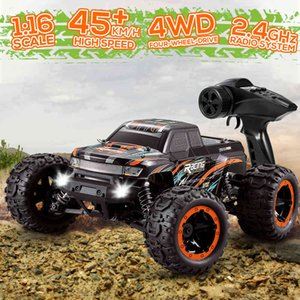 Linxtech 16889A 1 16 RC Car 45km h High Speed Brushless Motor 4WD RC Race Truck Car Big Foot Off Road Car Toy for Adult Kids 210322