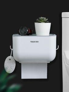 Tissue Boxes & Napkins Toilet Box Punch-Free Wall Mount Towel Bath Ball Storage Rack Paper Holder Shelf Roll Tube