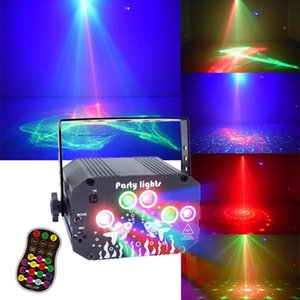 3 in 1 LED Laser lighting Projector Aurora Dream Pattern RGB Disco Light USB Power Remote Control Dj Party Lamp for Stage Wedding Birthday Christmas