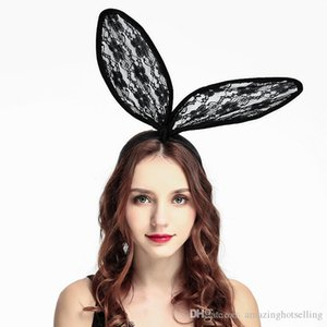 Lace Hairband Headband Women Girls Fashion Hair Accessory Costume Easter Party Headware Rabbit Bunny Ears Hair Accessories