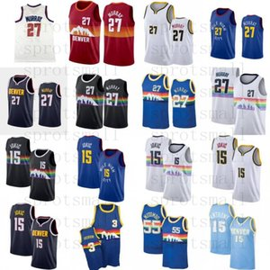 Nikola 15 jaquic Jamal 27 Murray Basquete Jersey Mens Allen 3 Iverson Carmelo Anthony Dikembe 55 Mutombo Camisa Retro