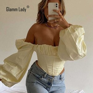 Glamm Lady Summer Sexy Casual Crop Top Short Corset Tops Women Backless Tank Top Femme Fashion Yellow Solid Top Ropa Mujer 210603
