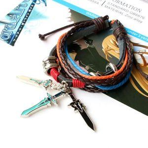 Schwert Kunst Online-Animation Periphere Mode Armband Schmuck Seilkette Charm Armbänder Trendy Unisex