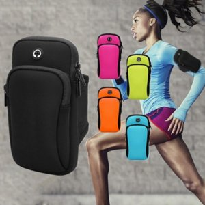 Disponibles Brazalete Deporte Impermeable Universal Running Gimnasio Caja de gimnasio Móvil Teléfono Band Bag para iPhone Smartphone a mano
