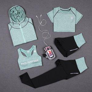 SPORTS SPORTSWARD SPORTSWARD SPORTS SPORTSWART FEMME T-shirt Femme Costumes Collants de remise en forme Sport Support Green Top Yoga Set Womens Suitesuit