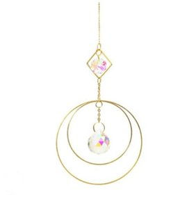 Factory Home Colorful Crystals Suncatcher Hanging Sun Catcher with Chain Pendant Ornament Crystal Balls for Window Garden Christmas Day Party Wedding