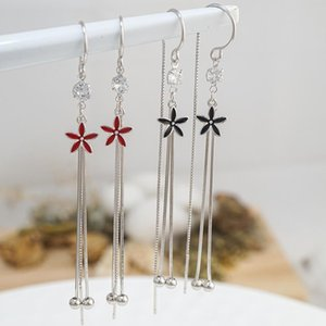 designer earrings fashion Stud tassel Long Suitable for Social gathering party Charm Ear jewelry 925 Silver Ohrringe Trendy