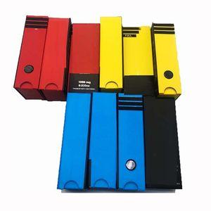 1,0 ml l kükeln vape patronen blau rot gelb atomizer verpackung box aufkleber metallspitze leer vapes stift verdampfer glas keramik spule oem benutzerdefinierte
