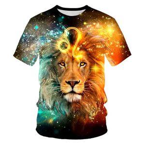 Nuevo león africano Impresión 3D Camiseta para hombre Material suave Ropa suelta Multicolor Personalizado Pareja personalizada T-shirtsSoccer Jersey
