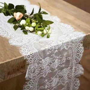 Napkin Lace table flag white theme wedding home decoration 36 * 300 runn