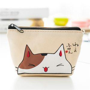 HBP 여자 동전 지갑 만화 고양이 인쇄 동전 지갑 소녀 키 키를위한 귀여운 지갑 2021032000V-H