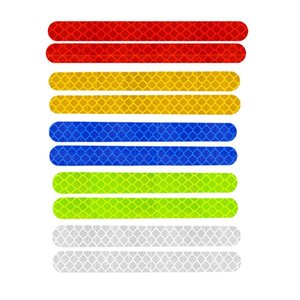 2Pcs Per Set Reflective Car Rear View Mirror Sticker Warning Tape Safety Reflective Strips Anti-collision Reflector
