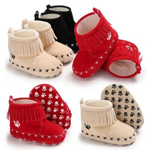 First Walkers 0-1 Year Old Girl Boy Toddler Shoes Winter Snow Boots Baby Warm Cotton Infant Hook & Loop