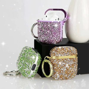 Luxury Electroplated Diamond Glitter Cases for Apple Airpods Airpod Pro 2 1 Wireless Bluetooth Earphone Box Hard Cover
