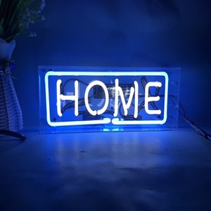 """HOME BOX Wall Decor Light Led for Bedroom Words Cool Art Neon SIGN Cute 12""""x10.6"""""""