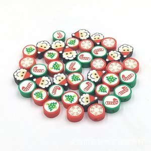 1000pcs lot 10mm Polymer Clay Christmas Beads For Jewelry Making DIY Bracelet Necklace Accpet Customized