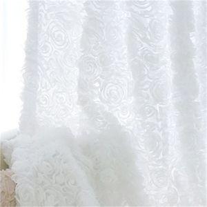 Coréen princesse style blanc rose blanc rideaux de balançoire pour salon filles literie salle de literie drapeau cotinas para sala décoratif 327 r2