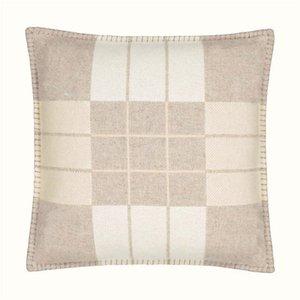 Письмо Кашемировая подушка для наволочки дома Диван-кровать вязаные подушки портативный туристический автомобиль Талия задняя подушка 5 цветов