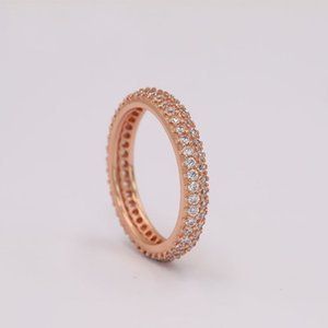 100% 925 Sterling Silver RINGSFor Pandora Fashion Ring for Valentines Day Rose Gold Wedding Ring Women 2868 Q2