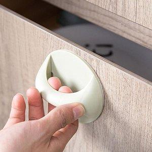 Handles & Pulls 2pcs Paste Multi-Purpose Handle Home Drawer Glass Window Sliding Door Push-Pull Auxiliary Self-Adhesive Knob