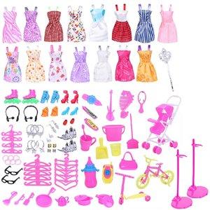 Play House Bebek Aksesuar Seti Dolly Giysi Takım Elbise Mobilya Uydurma Günlük Makaleler 98 ADET Ev Dekorasyonu 16 Kısa Etekler Oyuncak Aksesuarları 15 MYA L2