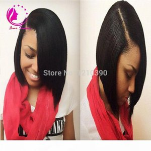1*3 Right Opening U Part Wigs Short Peruvian U Part Wigs For Black Women Silk Straight Upart Human Hair Bob Wig For Sale