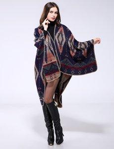 Luxury Brand scarves shawls Imitation Cashmere National High Quality Wrapes New Fashion Lady Shawls Geometric Rhombus Pa