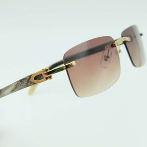 Black Ienbel Sunglass Real Buffalo Cuerno aleatorio Blanco y cuadrado Carter Vidrio SHAD SHAD Relleno óptico Receta