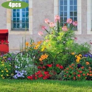 Clôture, Trellis Gates 4PCS Jardin Décoration Clôture Fer Métal Métal Miniature Craft Artisanat Accessoire d'ornement