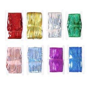 حزمة 2 مجموعات الستار المطر مرحلة خلفية الجدار الزخرفية لامعة جميلة لحزب عيد ميلاد (ذهبي مع 6 ملليمتر زخرفة مزدوجة
