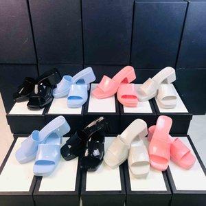 Женские сандалии с каблуком мода роскоши дизайнеры тапочки леди дизайнерская тапочка сандалии кожаные скольжения