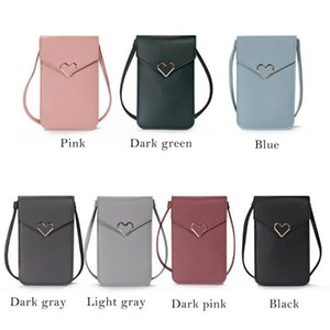 Cross Body Screen Cell Phone Wallet Shoulder Bag Leather Pouch Case Travel Gadget Organizer Portable Mobile Pouches