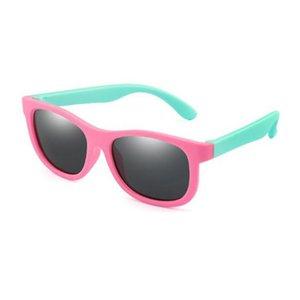 Polarized Kids Солнцезащитные очки Дети TR90 Солнцезащитные Очки Мальчики Девушки Глаз Стекло Для детей Силиконовая Рамка Безопасность Детские Оттенки UV400 Очки