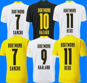 Borussia Dortmund 20 21 Haaland Reus Bellingham Jersey Soccer Hazard Sancho Brandt Chemise de football Hommes Enfants Balr Signature Taille S - 4 XL