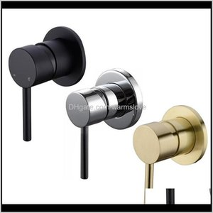 Angle Vaes Faucets, Showers As Home Gardenshower Brass Faucet Diverter Control Wall Mounted Mixer Vae For Spout Shower Head Matte Black & Ch