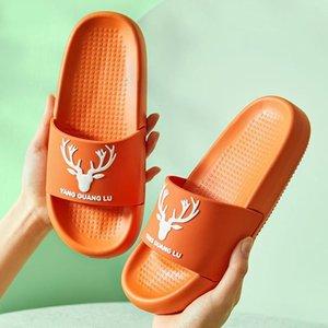 Women Non-slip Slippers Summer Beach Slides Deer Horns Thick Soled Sandals Boys Girls Bath Shoes Flip Flops Zapatillas Mujer
