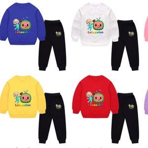 Autumn Winter Cartoon Cocomelon Children's Tracksuit JJ Boys Baby Loose Long Sleeve Sweatshirts + Pants Two-piece Suit Casual Sportswear Sets G97LOAN