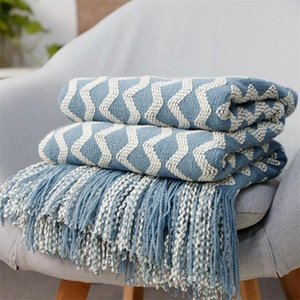 Knitted Blanket Thread Sofa Throw Blankets With Tassel Nordic Bedspread Decorative Bed Crib Stroller & Swaddling