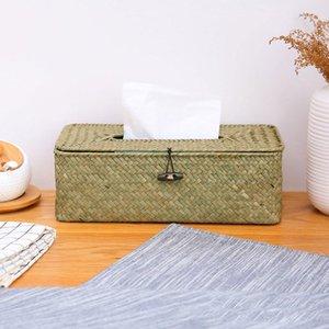 Tissue Boxes & Napkins Handmade Seaweed Multifunctional Box Home Decoration Desktop For Barthroom Shortage