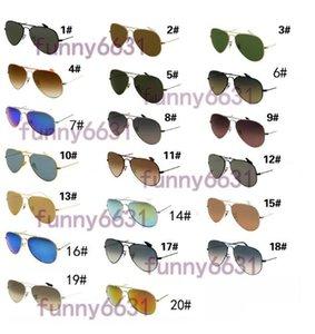 Yaz Gözlüğü Güneş Gözlüğü Adam Koruma Yuvarlak Güneş Glasse Moda Erkek Kadın Spor Unisex Gözlük Bisiklet Cam 18 Renkler