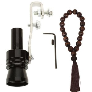 Vacuum Cleaner Aluminum Turbo Sound Whistle Exhaust Pipe Tailpipe (Size L) & Rear View Mirror Hanging Decorative Wooden Beads Pendant