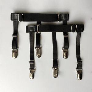 Cinturones 1 par de hombres Camisa de los hombres Mantiene el cinturón con clips de bloqueo antideslizante Mantenga el muslo escondido Muslo Suspender ligas correas gota