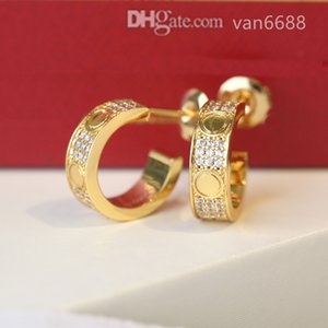 [With box] Designer Earrings Pendant stud Love Necklaces Screw Earring carti Party Wedding Couple Gift Bracelet Fashion Luxury afssdfsdjhkjh