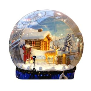 2M 3M 4M Inflatable Christmas Decoration Giant Photo Snflatable Snow Globe For Event Advertising