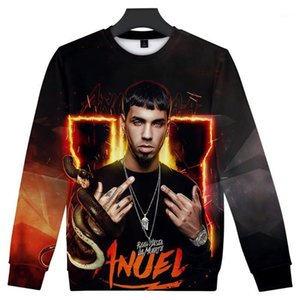 2019 Streetwear Andry Hoodies Hoodies O-Col à manches longues Coton Harajuku Anuel Sweat à capuche pour hommes Streetwear Plus Taille1