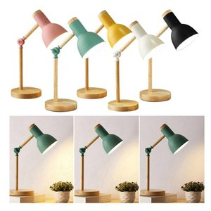 Table Lamps Stylish Wooden Iron LED Multi-Joint Reading Lamp Task Light Flexible 3W Nordic Folding Desk Bedroom Eye Protection