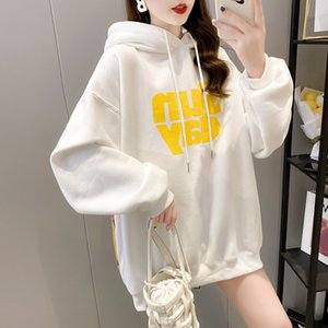 Ladies Hoodie autum winter plus velvet thicken cute hooded sweater students casual fashion loose long coat lovely dinosaur pattern soft skin-friendly shirt